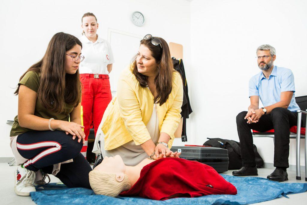 Töchtertag 2019 mit Frauen- und Wohnbaustadträtin Kathrin Gaál beim Arbeiter-Samariter-Bund